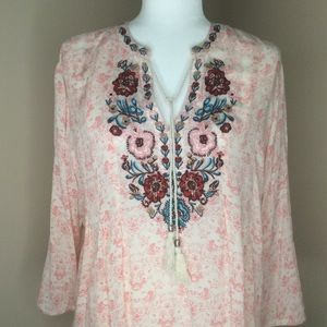 Vintage america embroidered top NWT